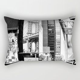 City Architecture Collage Rectangular Pillow