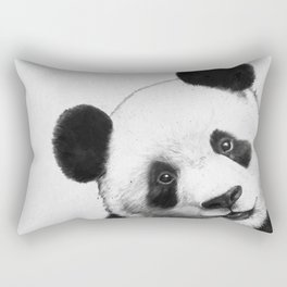 peekaboo panda Rectangular Pillow