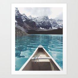 the canoe trip Art Print