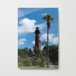 Jupiter Lighthouse Color Tropical / Coastal Landscape Photograph Metal Print