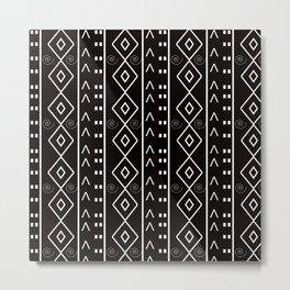 Black White Love Metal Print