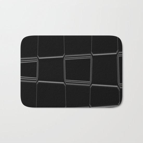 Minimalist Black & White Bath Mat