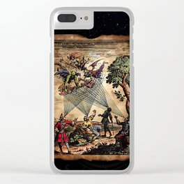 Medieval Minstrel Spirits Clear iPhone Case