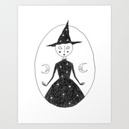 Moon Witch Art Print