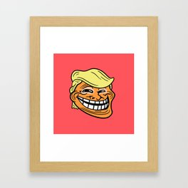 Trollin' Trump Framed Art Print