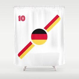 German flag soccer team jersey Shower Curtain