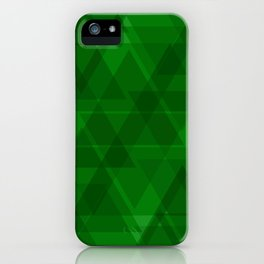 Bright green triangles in intersection and overlay. iPhone Case