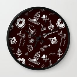 Magic symbols Wall Clock
