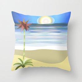 Gymea on Blue Throw Pillow