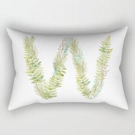 Initial W Rectangular Pillow
