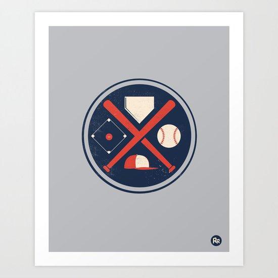 Baseball Basics Art Print