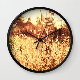 The Golden Hour Wall Clock