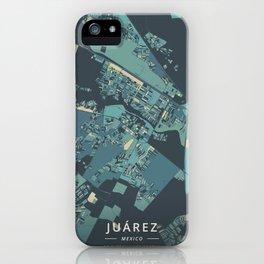 Juarez, Mexico - Cream Blue iPhone Case