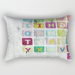 encrypted message Rectangular Pillow