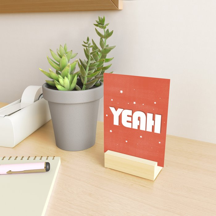Yeah modern typography Mini Art Print