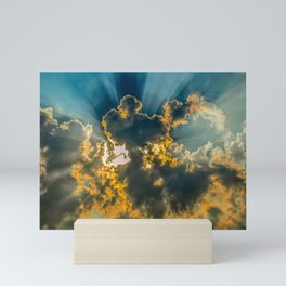 Sun Coming Through the Clouds Mini Art Print
