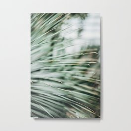 Abstract green nature art Palm leaves Metal Print