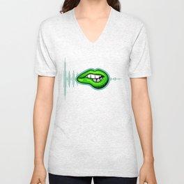 Psychedelic Lips #2 Unisex V-Neck