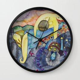 The evening, an allegory Wall Clock
