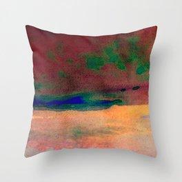 sunset/soft light/abstract/nature/sea Throw Pillow