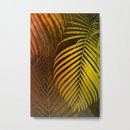 TROPICAL LEAVES GREEN MOCCA no1 Metal Print
