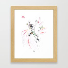 Vertical Virgo Framed Art Print