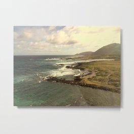 Makapu'u Point Lighthouse Trail Metal Print