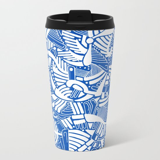 - the captain who fell with the blue angels - Metal Travel Mug