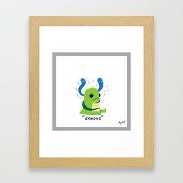 Demons Framed Art Print