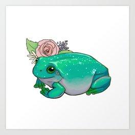 Succulent Frog Art Print