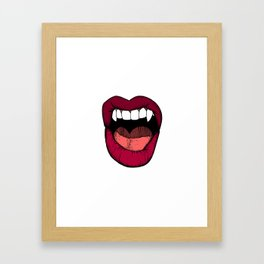 Vamp Lip Framed Art Print