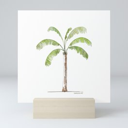 Watercolor Palm tree Mini Art Print