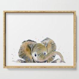 Hello,Anybody At Home? - Baby Elephant Serving Tray