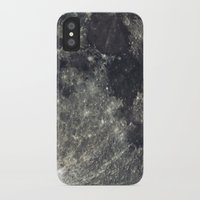 the moon iPhone & iPod Cases featuring Moon by Pete Baker