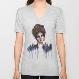 Burn // Fashion Illustration Unisex V-Neck