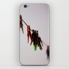 Clothespins on a rope 4496 iPhone & iPod Skin
