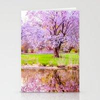 arnold Stationery Cards featuring Spring at Arnold Arboretum by LudaNayvelt