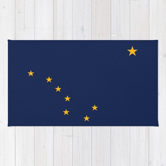 Alaska State Flag, Authentic version Rug
