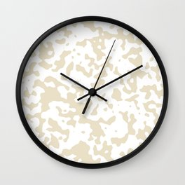 Spots - White and Pearl Brown Wall Clock