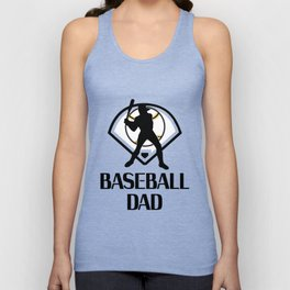 Baseball And Dad Funny Fathers Day Gift Unisex Tank Top