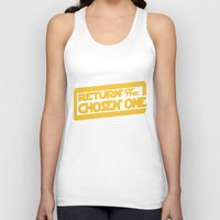 lebron Tank Tops featuring Return of the Chosen One by JohnLucke