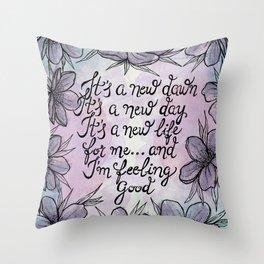 Feeling Good Throw Pillow