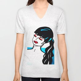 Illustration 3 Unisex V-Neck