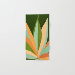 Colorful Agave / Painted Cactus Illustration Hand & Bath Towel