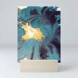 Purple Topaz Spin Floral Mini Art Print