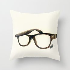 Hipster's Paradox Throw Pillow