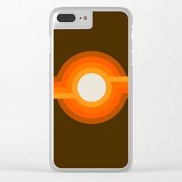 Golden Sunspot Clear iPhone Case