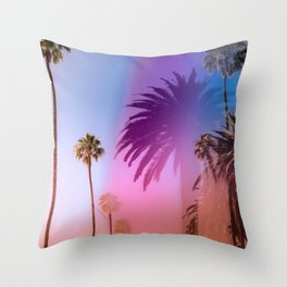 Sunshine and Palm Trees Throw Pillow