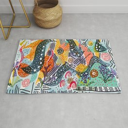 Sea Monster Birthday Party Rug