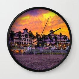 Surf City Sunrise Wall Clock